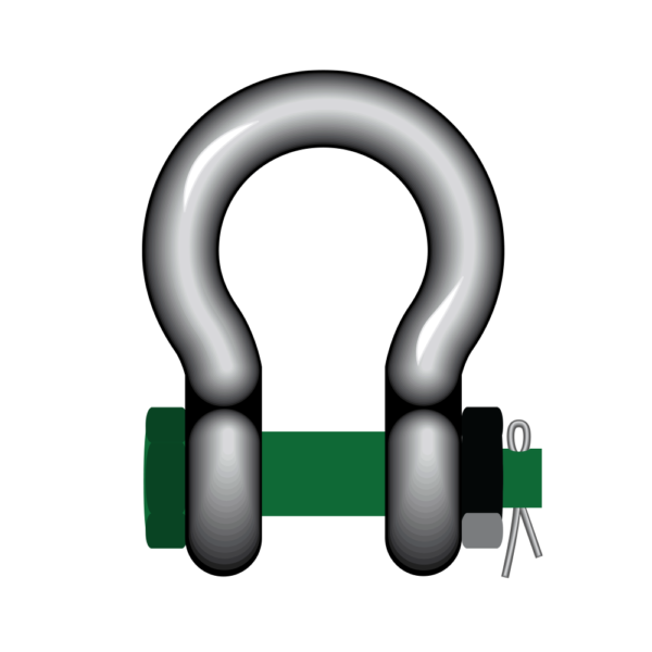 S4 Green Pin® Bow Shackles With Safety bolt
