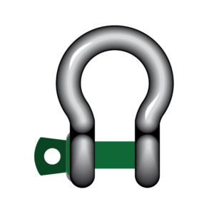 S4 Green Pin® Bow Shackles With Screw Collar Pin