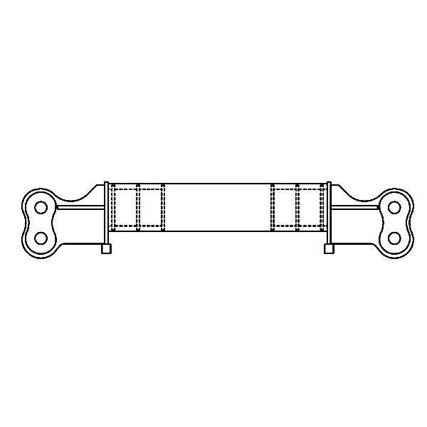 Spreader Bar Line Drawing
