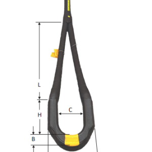 Black Snake - Bulldozer 'B' Fitting Modified Recovery Strop