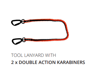 TOOL LANYARDS with Karabiners